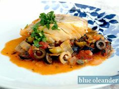 Cod fish with olives