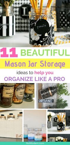 mason jar storage ideas #masonjar #diy #crafts #organization #homemade #homedecor