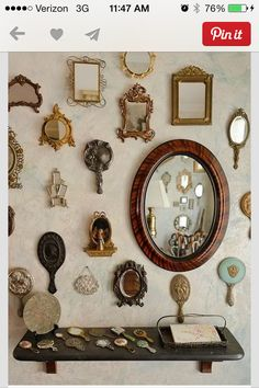 Decor #vintage #mirror