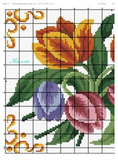 Cross Stitch Heart, Cross Stitch Flowers, Embroidery Techniques, Hand Embroidery, Diy And Crafts, Floral, Color, Angeles, Cookie
