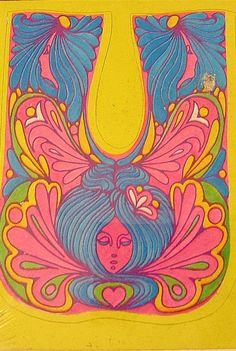 1960s psychedelic illustration.