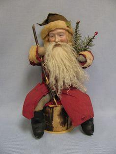 Antique German Santa Candy container