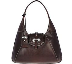 As Is Dooney & Bourke Florentine ToscanaHobo Bag Cute Handbags, Hobo Handbags, Louis Vuitton Handbags, Versace Handbags, Black Leather Handbags, Classic Leather, Hobo Bag, Dooney Bourke, Purses
