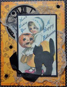 AlteredPages Artsociates: Halloween, collage sheet
