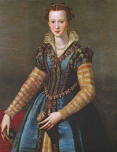 ca. 1571 Eleonora di Don Garzia di Toledo di Pietro de Medici by Alessandro Allori (Kunsthistorisches Museum - Wien Austria)