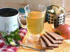 Зеленый чай с яблоком, мятой и ромашкой, рецепт с фото Smoothie, Cooking Recipes, Healthy Recipes, Healthy Food, Moscow Mule Mugs, Drinking Tea, Tea Time, Nom Nom, Bakery