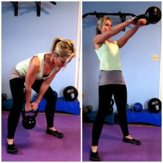 KETTLEBELL SWINGSBend at your hips and knees and swing a kettlebell or dumbbell in between your legs. Keeping your arms straight