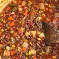 Vegetable Soup Tomato Hamburger Vegetable Soup Recipe on Yummly. Hamburger Vegetable Soup Recipe on Yummly. Vegetable Soup Tomato Hamburger Vegetable Soup Recipe on Yummly. Hamburger Vegetable Soup Recipe on Yummly. Beef Soup Recipes, Ground Beef Recipes, Cooking Recipes, Top Recipes, Potato Recipes, Hamburger Crockpot Recipes, Budget Recipes, Easy Vegetable Beef Soup, Veggie Soup