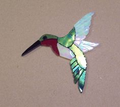 PRECUT STAINED GLASS ART HUMMINGBIRD KIT MOSAIC INLAY CRAFT HANDCRAFTED
