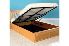 £199 for a double oak ottoman bed frame - two colour choices