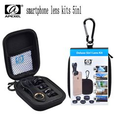 APEXEL smartphone Lens Kits 5in1 for iPhone xiaomi HTC HUAWEI Samsung Galaxy S7/S7 Edge S6/S6 Edge and Other Android Smart Phone