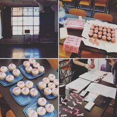 Les espaces lumineux du @collegemarsan. Les cupcakes offerts par de généreuses cuisinières! L'aide incroyable de nos bénévoles!  #JourneeReussie #UnePosePourLeRose #djuBOX #RubanRose #TousPourUn