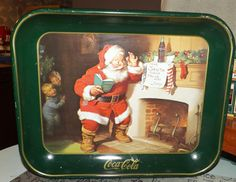 Vintage 1989 Coca-Cola metal Christmas Tray. by BuyfromGroovy