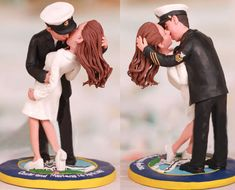 classic Nurse kissed by sailor wedding cake topper #nursekissedbysailor #weddingcaketopper