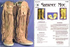 Details about Native American Shawnee Indian Moccasin Sewing Pattern in Ankle or Knee High Picture 3 of 3 Native American Moccasins, Native American Clothing, Native American Regalia, Native American Crafts, American Apparel, Shawnee Indians, Shawnee Tribe, Cherokee Indians, Moccasin Boots