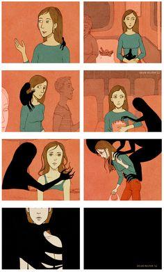Como a depressão age (Sylvie Reuter - sylviereuter.de)