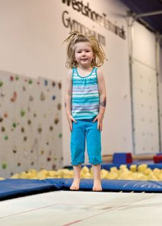Delta Gymnastics hosted Fall Back Into Gym late last month to give kids a chance to stay active and join in fun activities. Clara Preddy of Tsawwassen had fun on the trampoline.