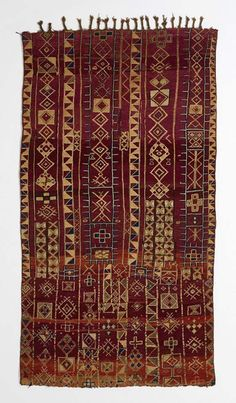 Africa | Carpet from the Zemmour people of the Middle Atlas region of Morocco | ca. 19th century | Wool, natural and chemical dyes.