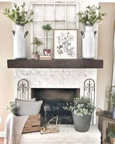 home decor 2019 With the chunky look and feel of a fireplace mantel, this shelf makes a perfect stage for family photos and collectibles. Plywood Furniture, Antique Furniture, Furniture Design, Living Room Designs, Living Room Decor, Country Living Rooms, Decor Room, Southern Living, Bedroom Decor