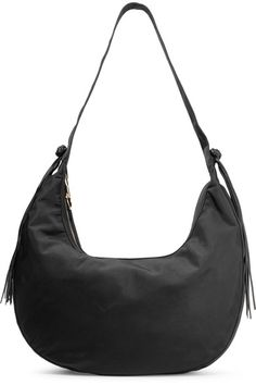 fbccf5e02c ELIZABETH AND JAMES Zoe large tasseled leather-trimmed shell shoulder bag.   elizabethandjames