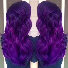 Purple ombré hair with pravana vivids!