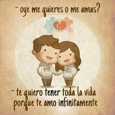 YO te amo ❤️ hasta el infinito y más allá millll infinitos 😁 😍💗 😘👶🏻👌🏻😻. Spanish Quotes Love, Love In Spanish, Cute Love Stories, Love Story, Amor Quotes, Love Quotes, Qoutes, Ex Amor, Hj Story