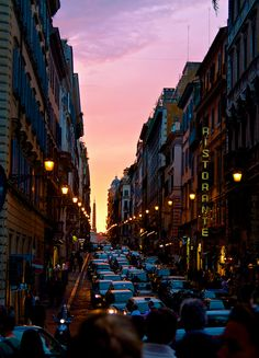 Sunset on the Streets of Rome by Zach Dischner, via Flickr