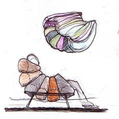 Croquis iniciais da Poltrona Tangelina. Leo Lattavo #sketchbook #moveis #furniture #design #designbrasileiro #interiordesign  #mobiliario #lattoog #lattavo #moog #lattoogdesign #schuster #schustermoveis #UploadDesignBrasil