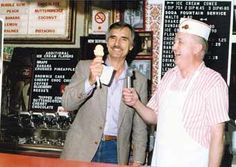 Dennis Weaver at Anderson's Ice Cream on south Main Street - Joplin, MO (now at Redings Mill)