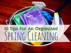 10 tips for organized spring cleaning
