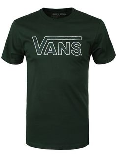 9d15ac219f Buy Vans Classic Logo Mens Forest T-Shirt Mens T-shirt
