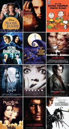 October Movie List aka just watch Johnny Depp. Movie To Watch List, Good Movies To Watch, Movie List, Tv Series To Watch, Best Teen Movies, Family Movies, Halloween Movie Night, Holiday Movie, Scary Movies