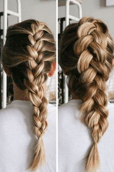 Hair Tutorials French Braid vs Dutch Braid Running in Heels French Braid Hairstyles, Box Braids Hairstyles, Pretty Hairstyles, Hairstyle Braid, Black Hairstyle, Dance Hairstyles, Braided Updo, Protective Hairstyles, Wedding Hairstyles