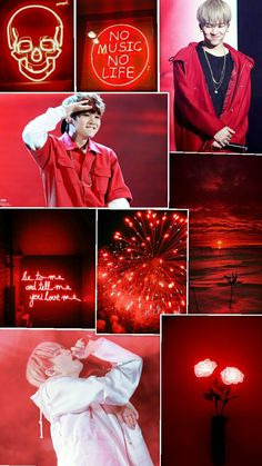 Yoongi red lockscreen #selfmade