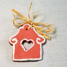 Rustikální vánoční ozdoba ze samotvrdnoucí hmoty Rustic handmade christmas ornaments Diy Crafts, Homemade, Crafts, Diy Projects, Do It Yourself Crafts