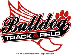 Vector - bulldog track and field - stock illustration, royalty free illustrations, stock clip art icon, stock clipart icons, logo, line art, EPS picture, pictures, graphic, graphics, drawing, drawings, vector image, artwork, EPS vector art