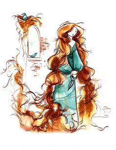 Rapunzel illustration