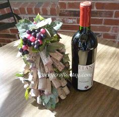Wine Cork  Tree - vineyard wedding table decoration, floral alternative, wine tasting, ready to ship