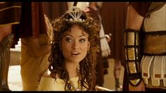 Olivia Wilde as Princess Inanna in Year One. Her makeup would be awesome with a greek goddess costume!