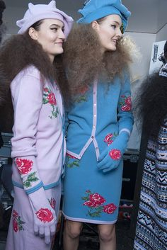 Check Sister by Sibling AW13 backstage snaps as seen in the Topshop Showspace as part of the NEWGEN sponsorship scheme. #TOPSHOP #LFW #AW13  #NEWGEN