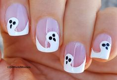 #Ghost French #nailart for #Halloween