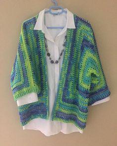 Brunch Cardigan Crochet pattern by Jess Coppom Make & Do Crew Crochet Cardigan Pattern, Crochet Jacket, Crochet Blouse, Crochet Shawl, Crochet Patterns, Crochet Granny, Knit Crochet, Crochet Woman, Crochet Clothes