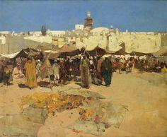 Frank Brangwyn - Market Scene, Jaffa