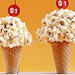 bake sale...popcorn cones...easy. I like the cherry price tag on top!