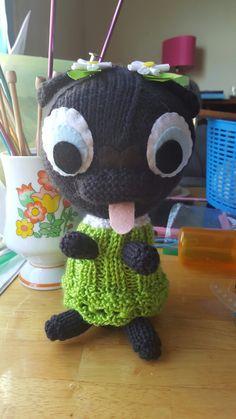 Sweet little black pug puppy, for Elsa.