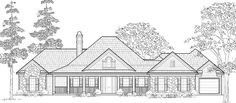 LOVE THIS---Country House Plan chp-22212 at COOLhouseplans.com