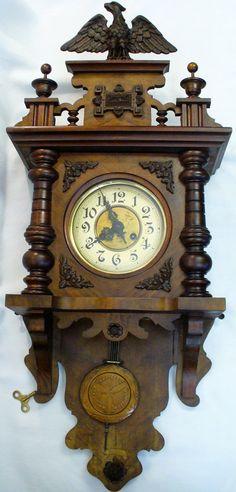 Antique GERMAN Kienzle free swinger wall clock PENDULUM Wall