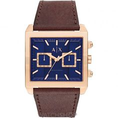 Mens Armani Exchange Chronograph Watch AX2225 http://www.thesterlingsilver.com/product/skagen-hagen-mens-quartz-watch-with-white-dial-and-brown-leather-strap-skw6216/