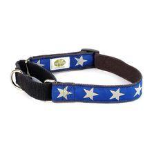 EarthDog Martingale Hemp Dog Collar in blue