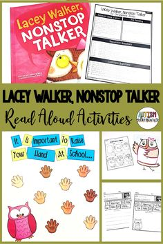 Lacey Walker, Nonstop Talker by Christianne C. Jones. Behavior Basics Book Club Curriculum for students with special needs and autism.
